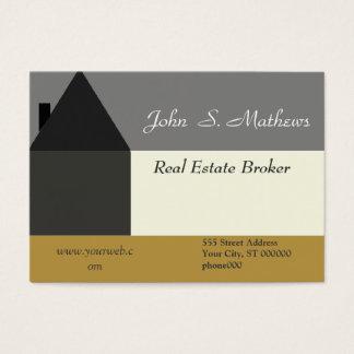 Design abstrato moderno profissional da casa cartão de visitas