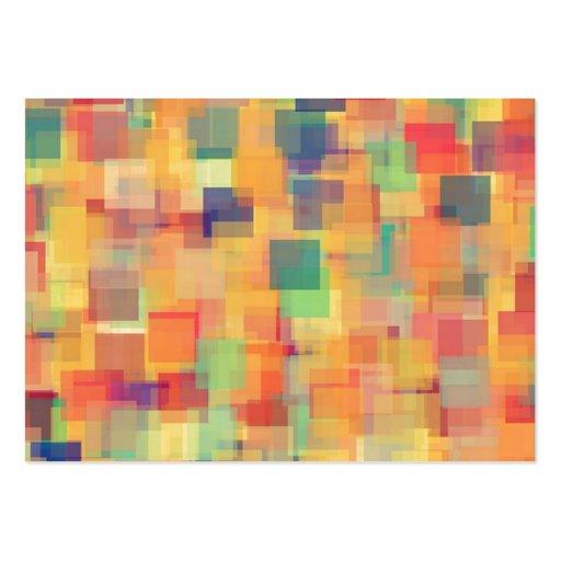 Design abstrato retro da arte do arco-íris cartoes de visita