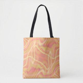 Design alaranjado abstrato do redemoinho bolsas tote