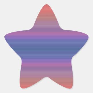 Design alaranjado das listras roxas e azuis adesito estrela