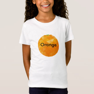 Design alaranjado do t-shirt das meninas camiseta