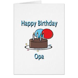 Design alemão do aniversário do vovô de Opa do fel Cartão