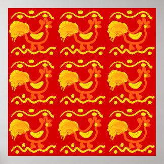 Design amarelo alaranjado vermelho colorido da poster