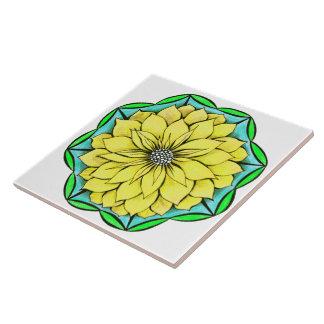 Design AMARELO da POINSÉTIA Azulejo De Cerâmica