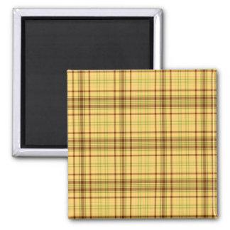 Design amarelo da xadrez ímã quadrado