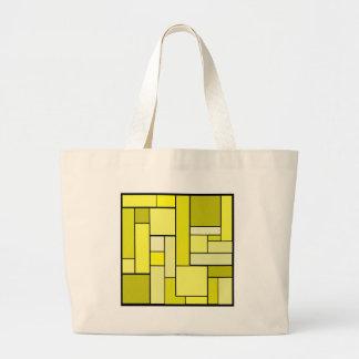 Design amarelo do parquet bolsas para compras