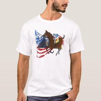 design americano da corrida de cavalos do faraó camiseta