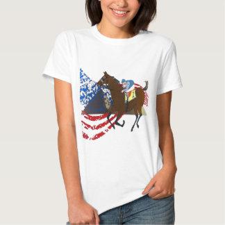 design americano da corrida de cavalos do faraó camisetas