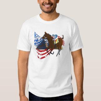 design americano da corrida de cavalos do faraó t-shirt