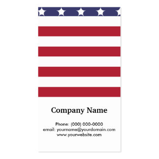 Design americano do patriota da bandeira do estilo cartão de visita