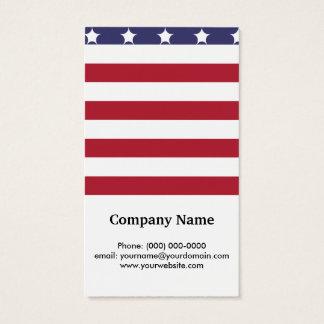 Design americano do patriota da bandeira do estilo cartão de visitas