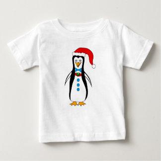 Design Amusing do pinguim no t-shirt do bebê Camiseta Para Bebê