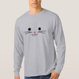 Design animal bonito da cara do gato do gatinho camiseta