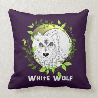 Design ártico do animal selvagem de lobos brancos almofada