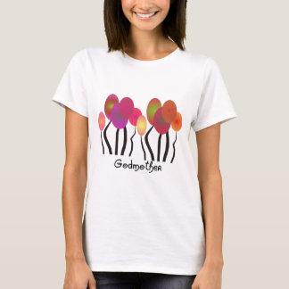 Design artística das árvores dos presentes da camiseta