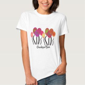 Design artística das árvores dos presentes da t-shirt