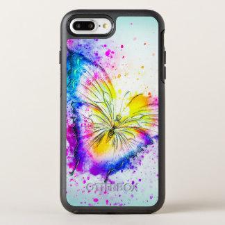 Design artístico da borboleta capa para iPhone 7 plus OtterBox symmetry