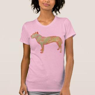 Design artístico e lunático de Pitbull/AmStaff Camiseta