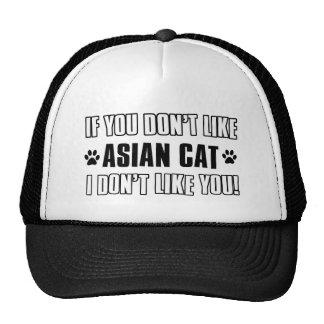 design asiático do gato do gato bonés
