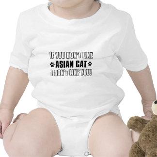 design asiático do gato do gato macacãozinho