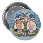 Design azul da foto de Jugate das moedas de um Bóton Redondo 7.62cm