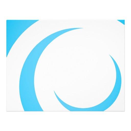 Design azul das curvas panfletos personalizados