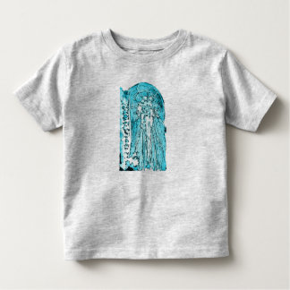 Design azul do roupa do espírito para miúdos camiseta infantil