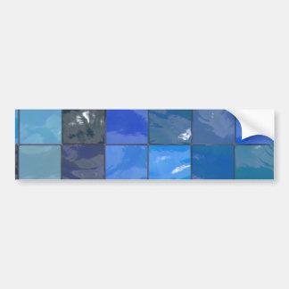 Design azul dos azulejos do banheiro adesivo para carro