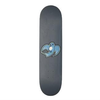 Design azul e branco doce do desenho da tinta do shape de skate 19,7cm