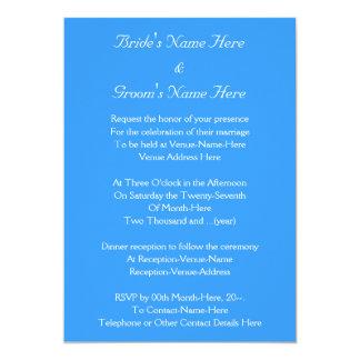 Design azul e branco feito sob encomenda do convite 12.7 x 17.78cm