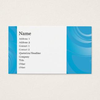 Design azul moderno cartão de visitas