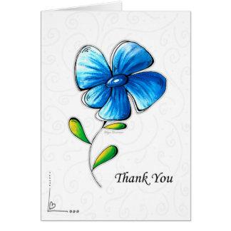 Design azul simples bonito da flor dos cartões de