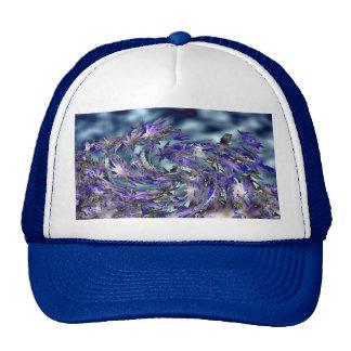 Design azul ventoso das folhas do furacão boné