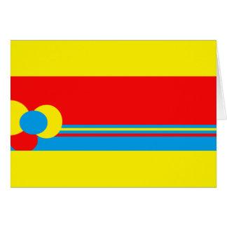 Design azul vermelho amarelo cartão comemorativo