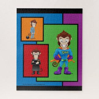 Design bêbedo 3 do quebra-cabeça de macaco da