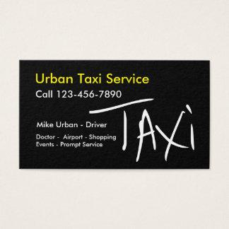 Design bilateral na moda do táxi simples cartão de visitas