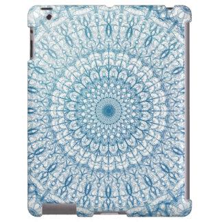 Design boémio do Fractal do azul do céu e de Capa Para iPad