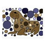 Design bonito da arte abstracta da morsa cartões postais