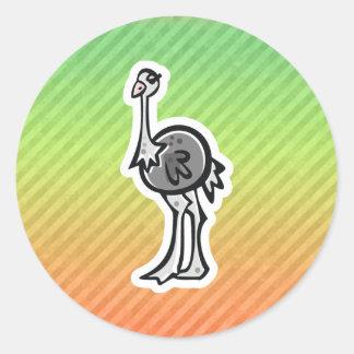 Design bonito da avestruz adesivo