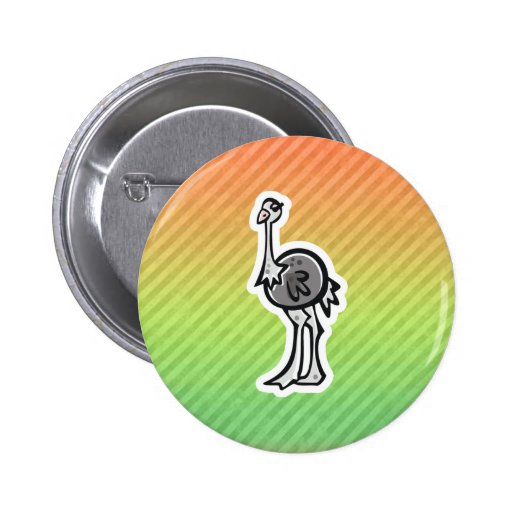 Design bonito da avestruz botons