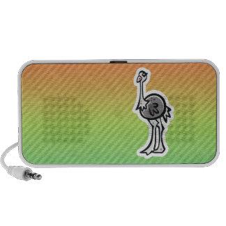 Design bonito da avestruz caixinhas de som para mp3