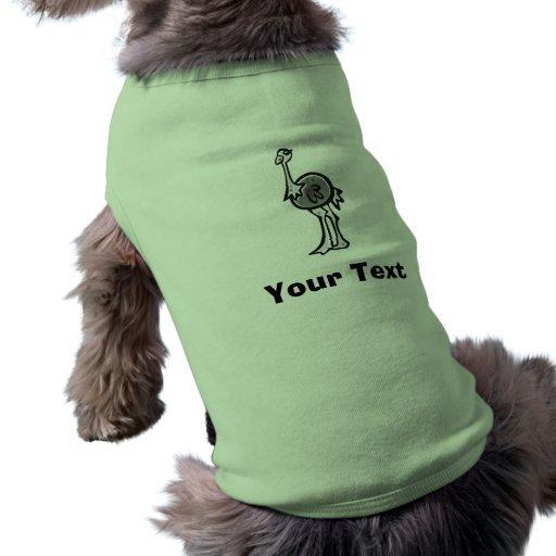 Design bonito da avestruz camisas para caes