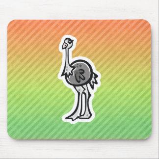 Design bonito da avestruz mousepad