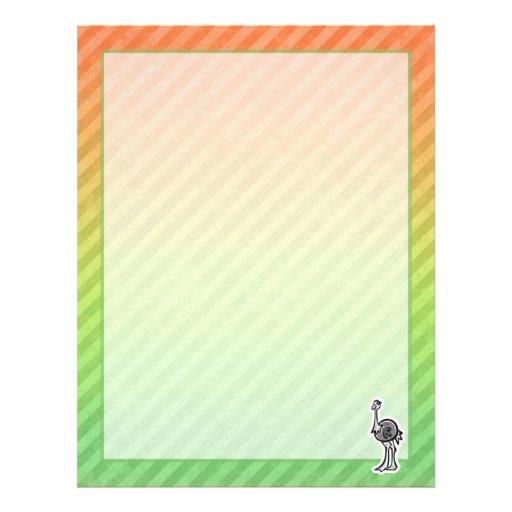 Design bonito da avestruz papel de carta