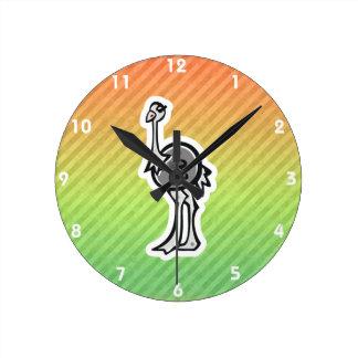 Design bonito da avestruz relógios para paredes