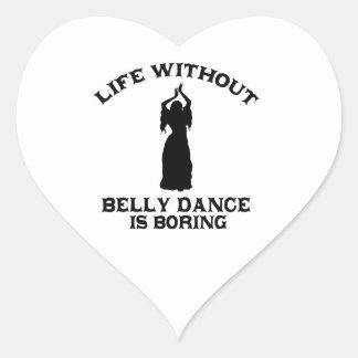DESIGN bonito da dança do ventre Adesivo Coração