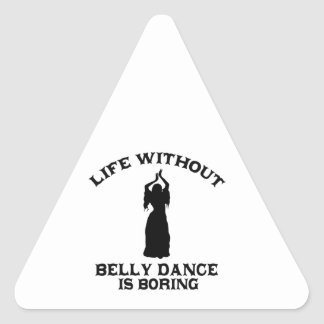 DESIGN bonito da dança do ventre Adesivo Triangular