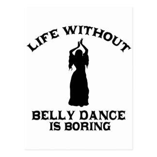 DESIGN bonito da dança do ventre Cartão Postal