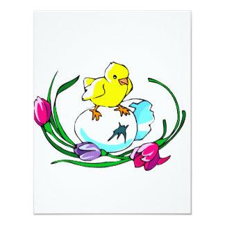 design bonito da páscoa da tulipa do ovo do convite personalizados