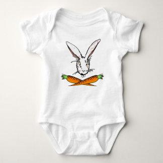 Design bonito do coelhinho da Páscoa Body Para Bebê